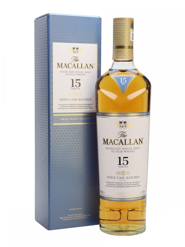 Macallan 15 YO Triple Cask